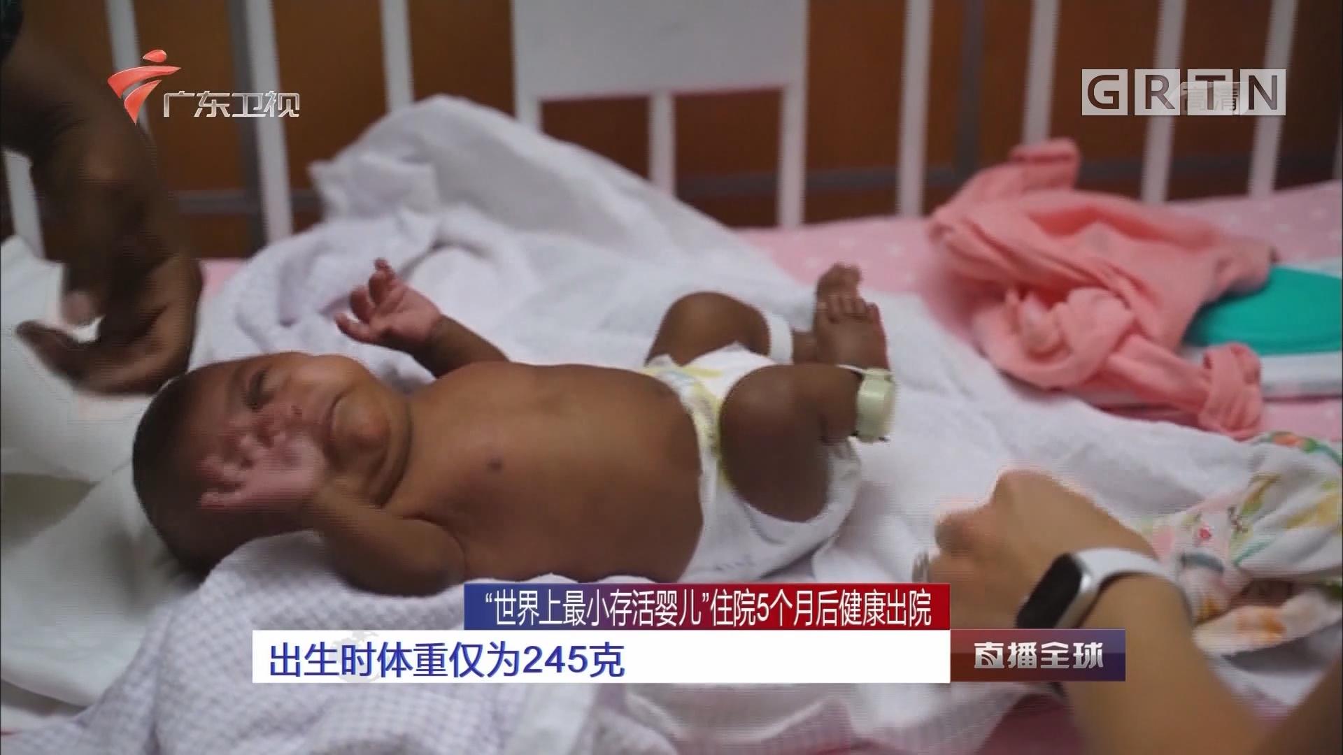 """""""世界上最小存活婴儿""""住院5个月后健康出院:出生时体重仅为245克"""