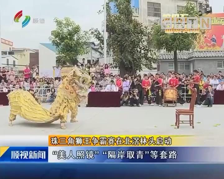 珠三角狮王争霸赛在北滘林头启动