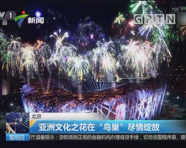 """北京:亚洲文化之花在""""鸟巢""""尽情绽放"""