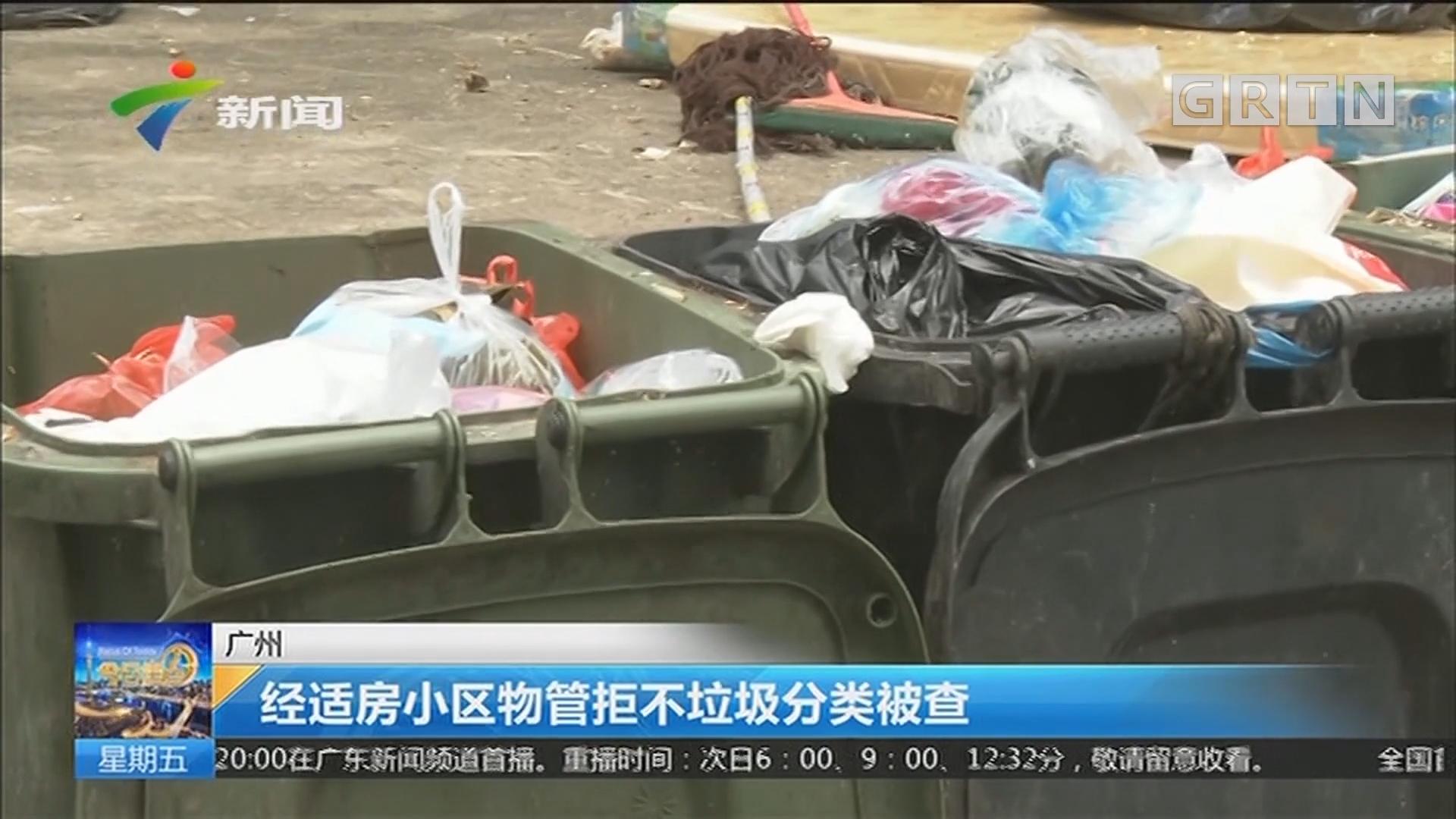 广州:经适房小区物管拒不垃圾分类被查
