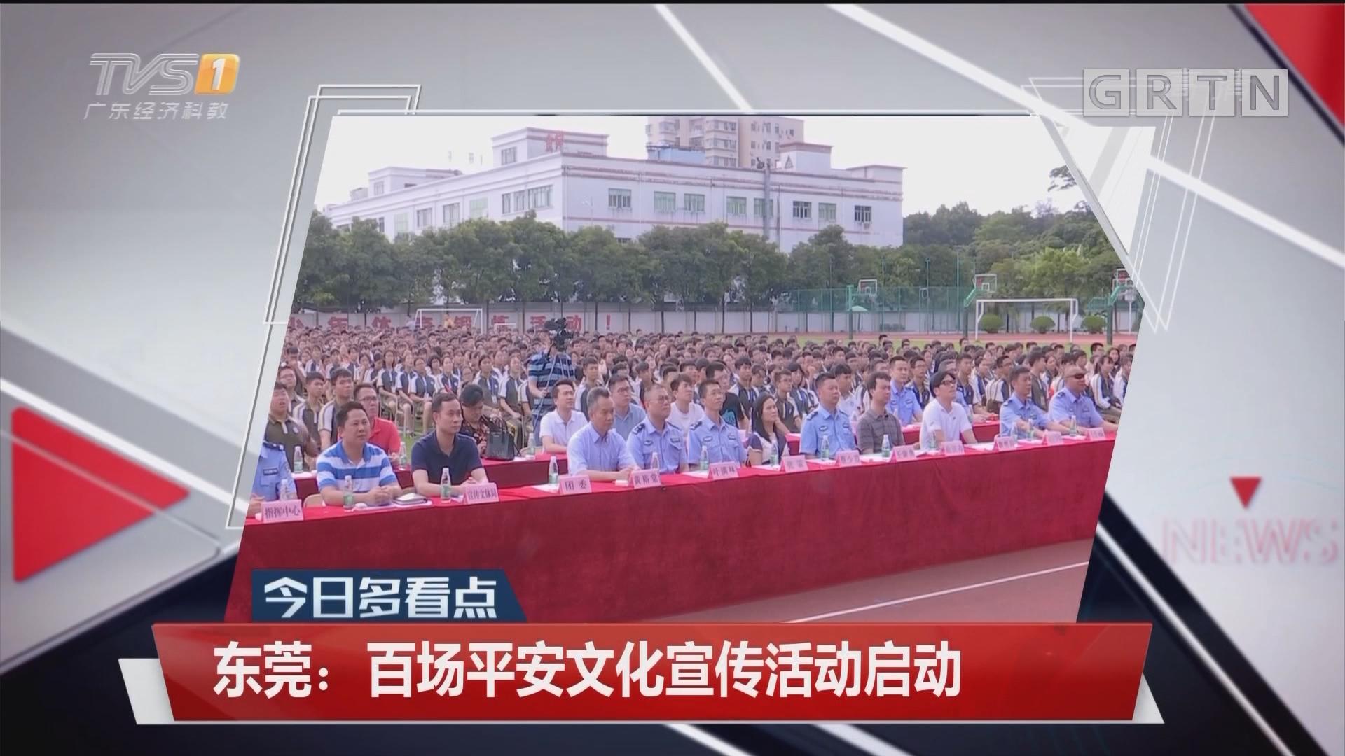 东莞:百场平安文化宣传活动启动