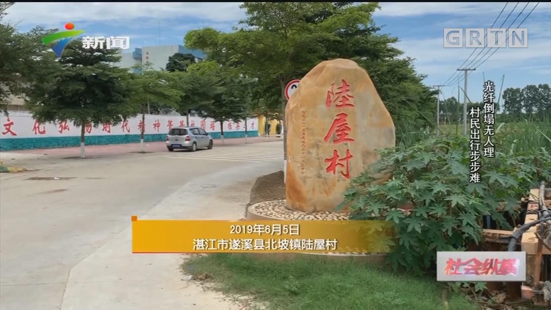 [HD][2019-06-17]社会纵横:光纤倒塌无人理 村民出行步步难