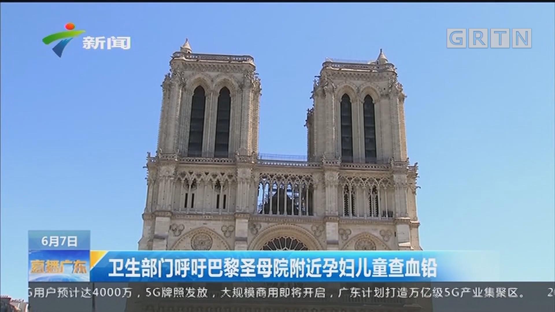 卫生部门呼吁巴黎圣母院附近孕妇儿童查血铅