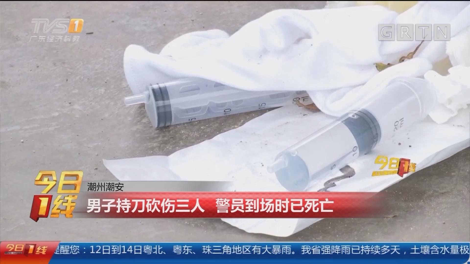 潮州潮安:男子持刀砍伤三人 警员到场时已死亡