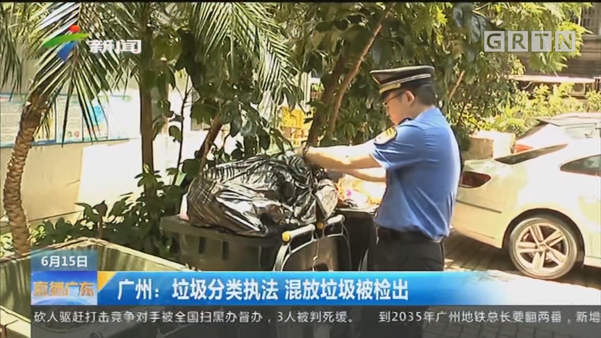 广州:垃圾分类执法 混放垃圾被检出