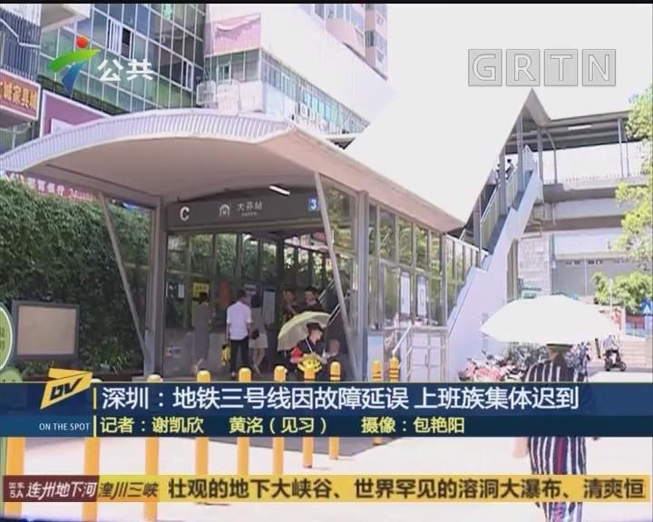 深圳:地铁三号线因故障延误 上班族集体迟到
