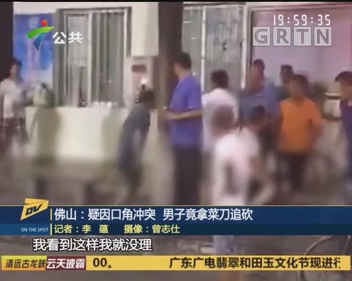 佛山:疑因口角冲突 男子竟拿菜刀追砍