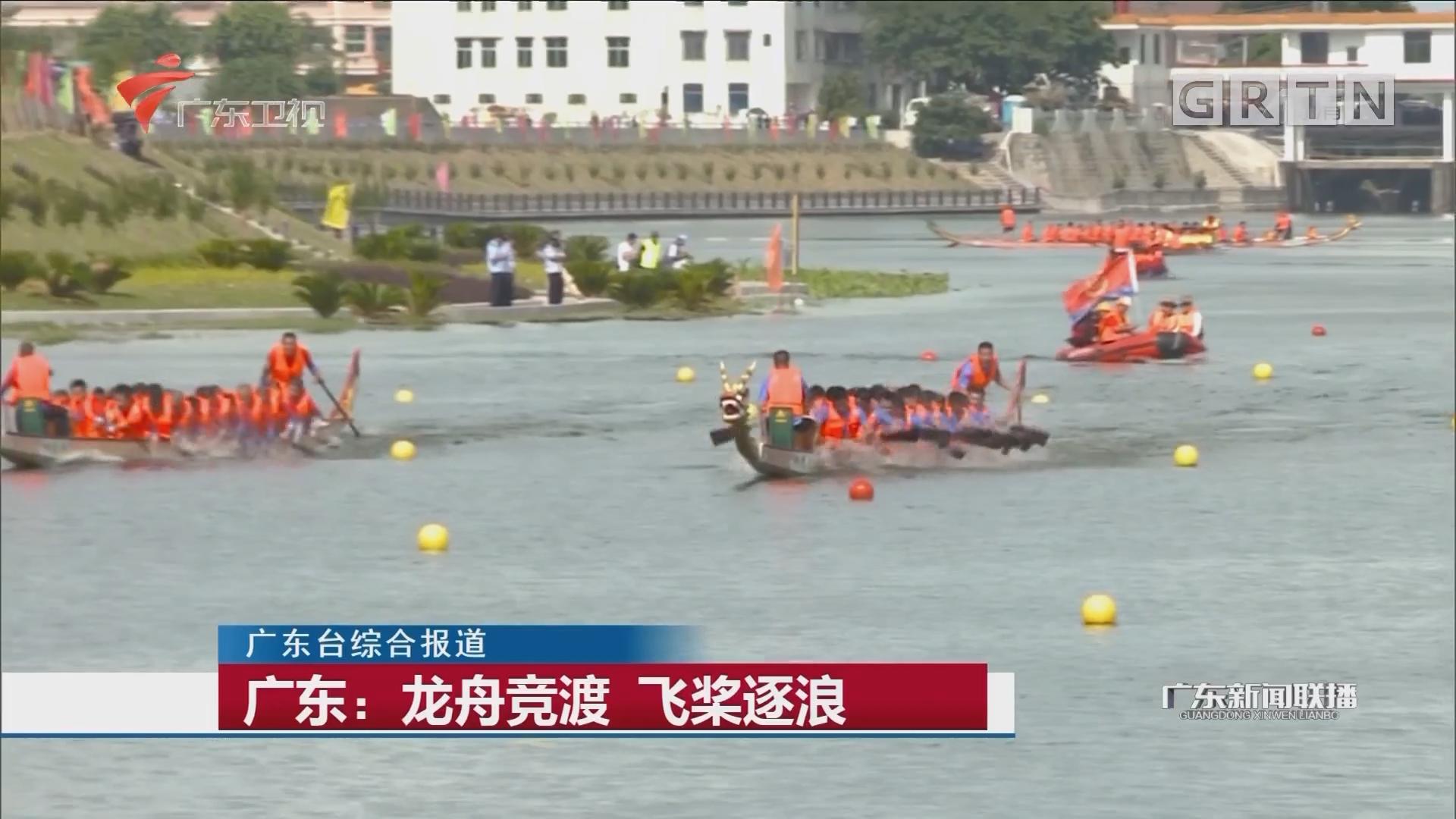广东:龙舟竞渡 飞桨逐浪