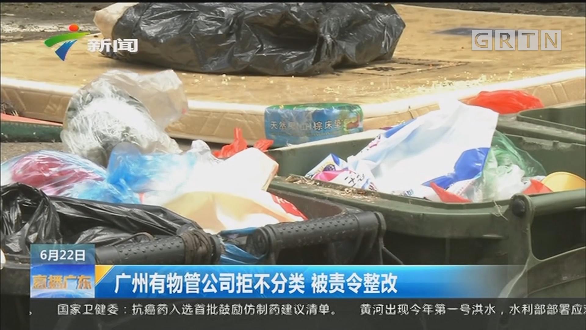 广州有物管公司拒不分类 被责令整改