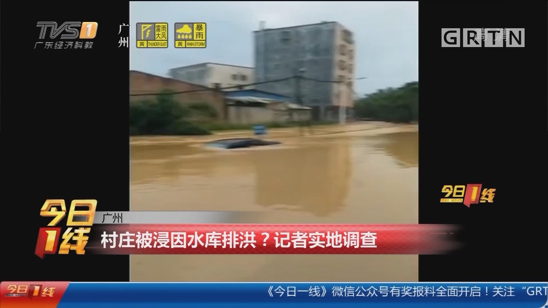 广州:村庄被浸因水库排洪?记者实地调查