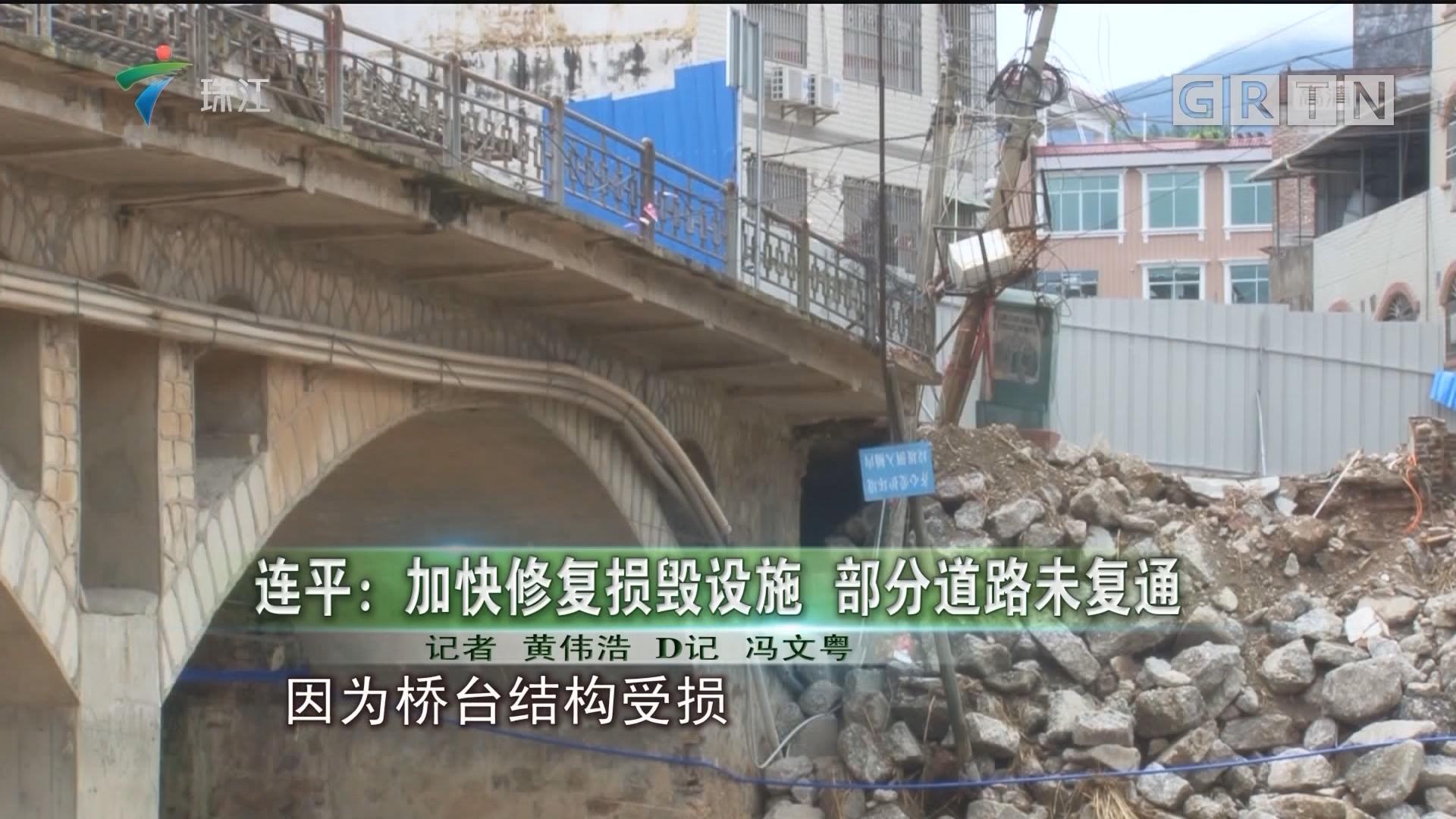 连平:加快修复损毁设施 部分道路未复通
