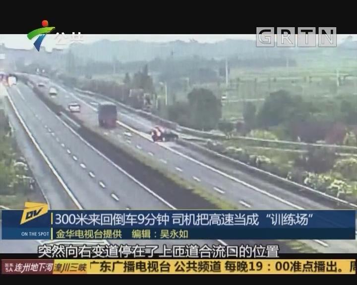 """300米来回倒车9分钟 司机把高速当成""""训练场"""""""