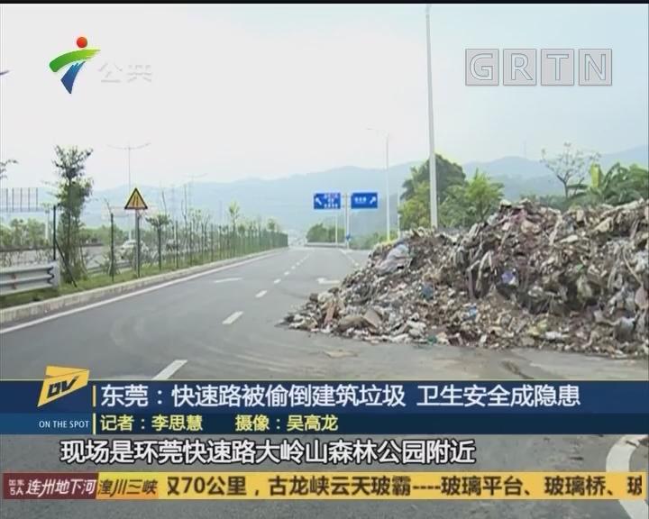 东莞:快速路被偷倒建筑垃圾 卫生安全成隐患