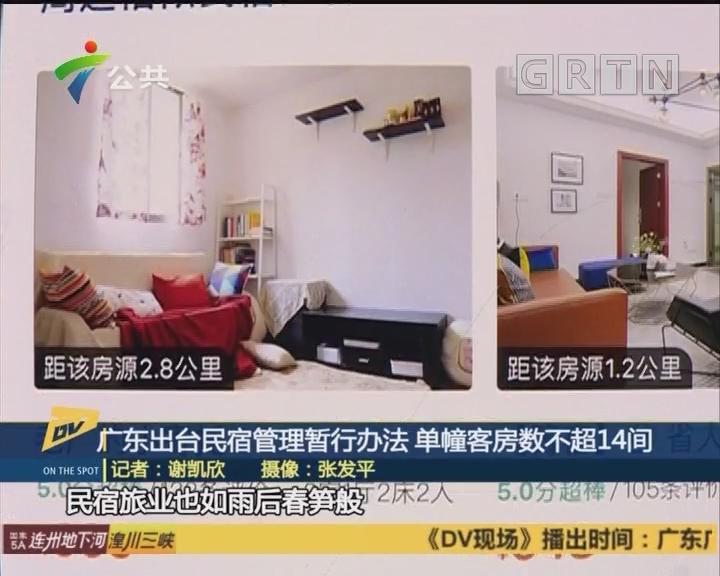 广东出台民宿管理暂行办法 单幢客房数不超14间