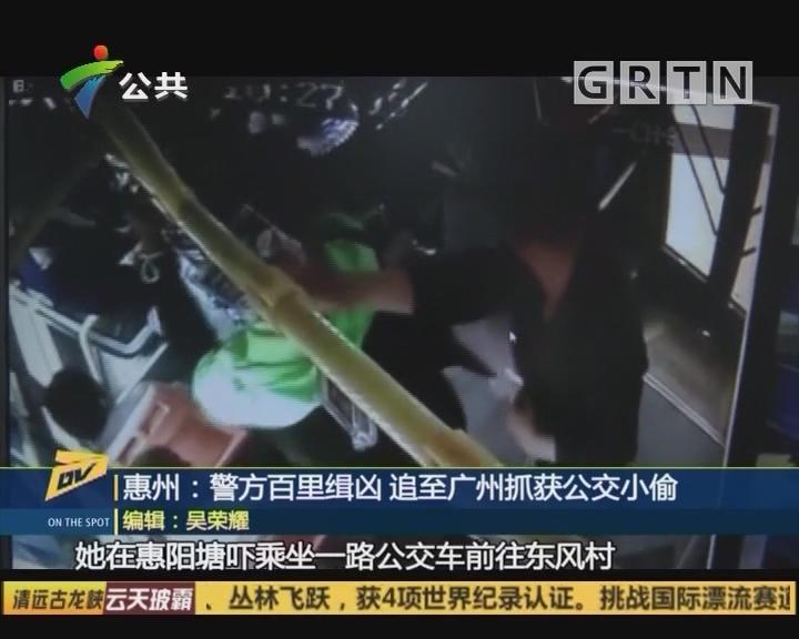 惠州:警方百里缉凶 追至广州抓获公交小偷