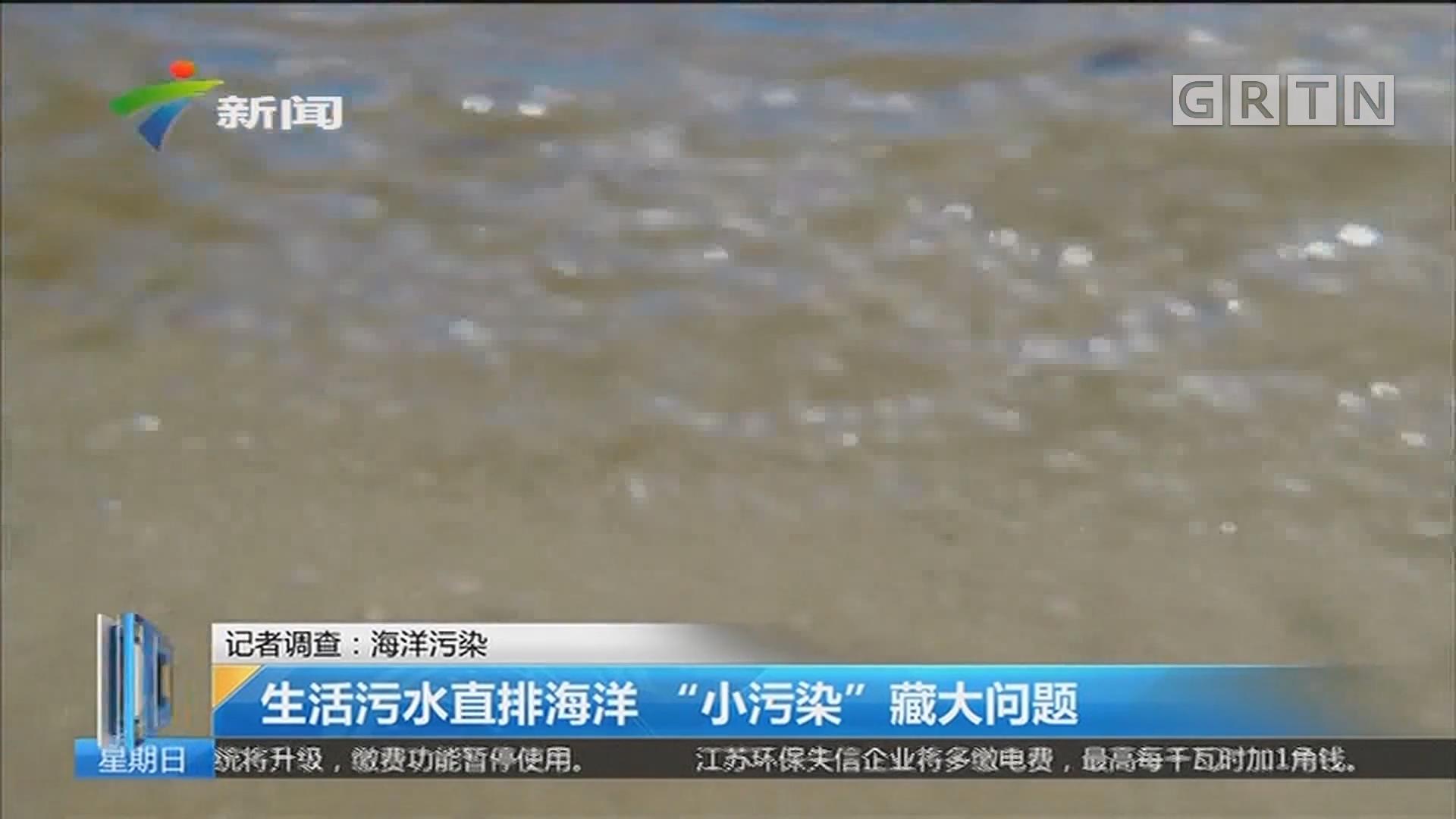 """记者调查:海洋污染 生活污水直排海洋 """"小污染""""藏大问题"""