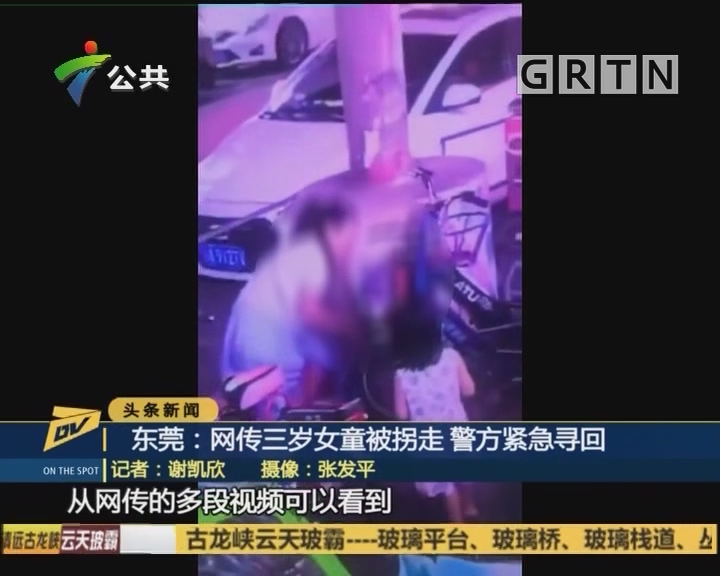 东莞:网传三岁女童被拐走 警方紧急寻回