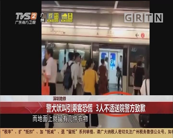 深圳地铁:警犬吠叫引乘客恐慌 3人不适送院警方致歉