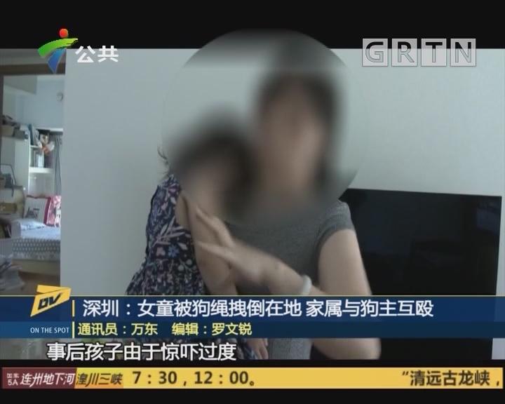 深圳:女童被狗绳拽倒在地 家属与狗主互殴