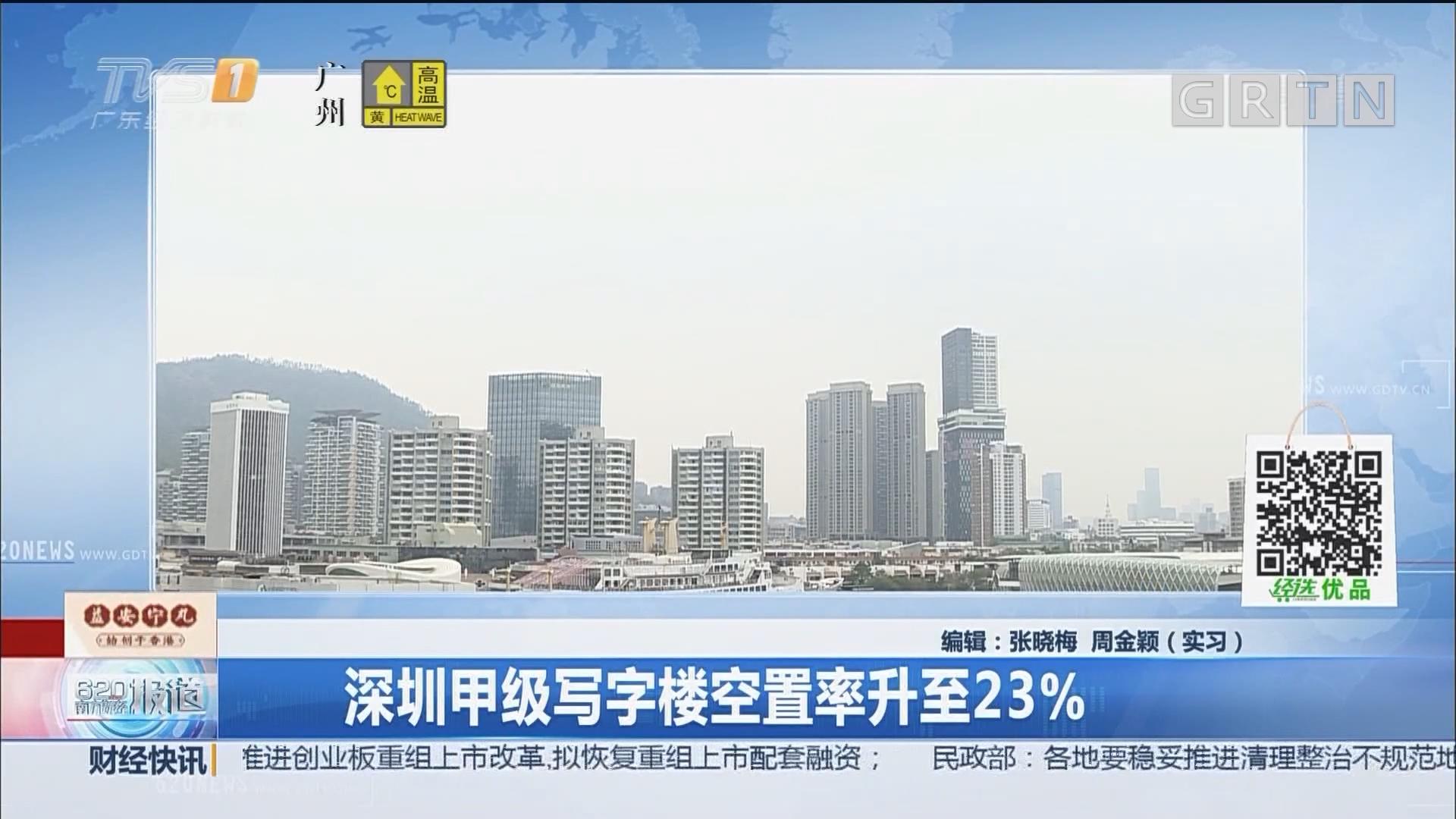 深圳甲级写字楼空置率升至23%