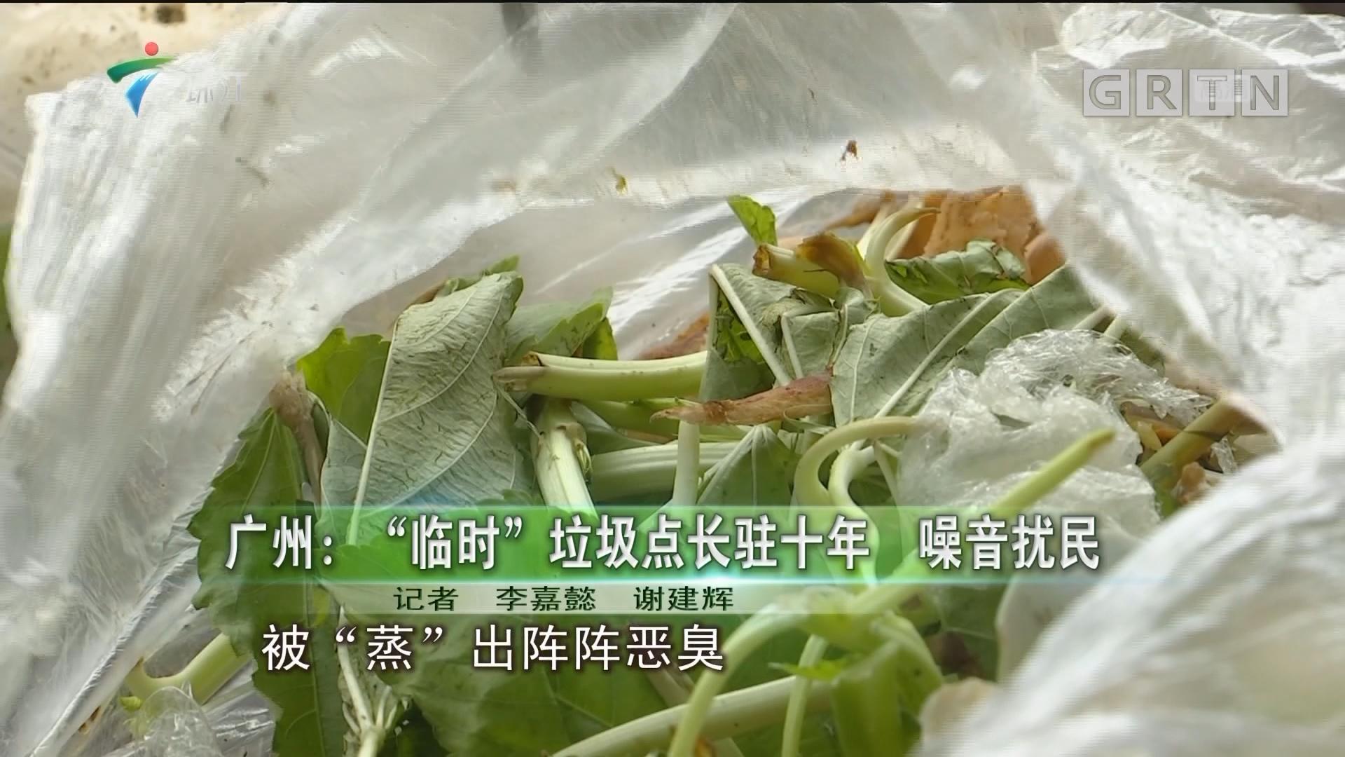 """广州:""""临时""""垃圾点长驻十年 噪音扰民"""