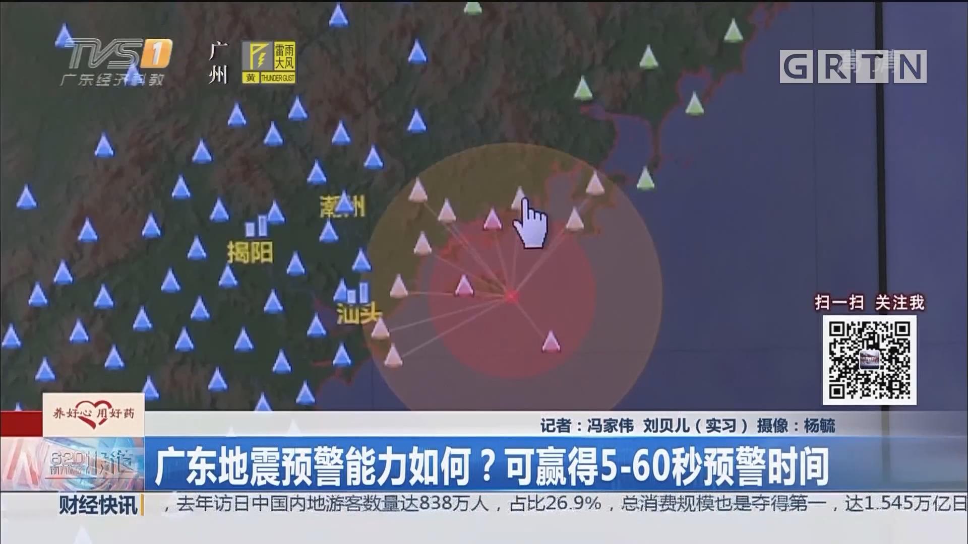 广东地震预警能力如何?可赢得5-60秒预警时间