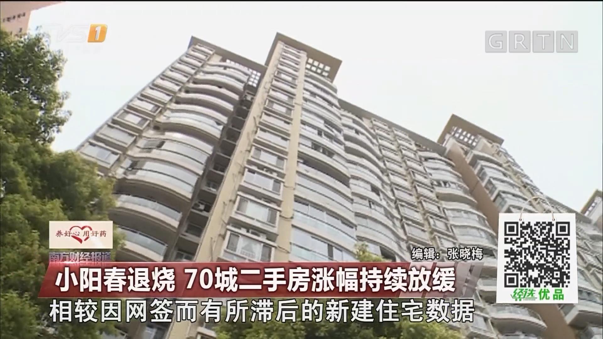 小阳春退烧 70城二手房涨幅持续放缓