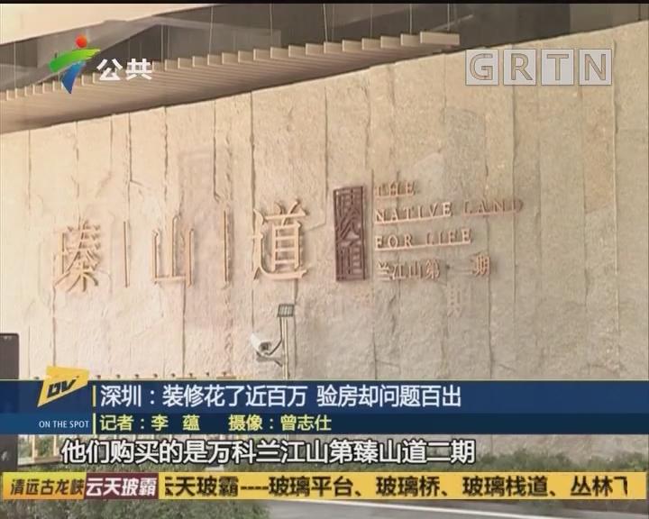 深圳:装修花了近百万 验房却问题百出
