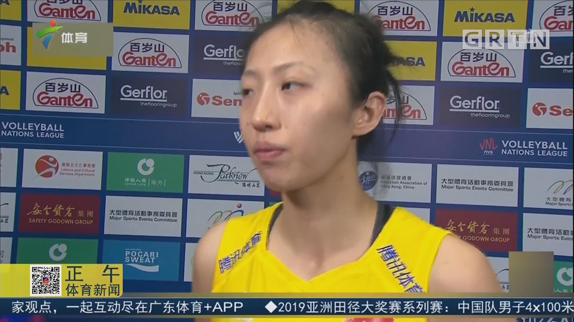 直落三局 中国女排战胜日本队