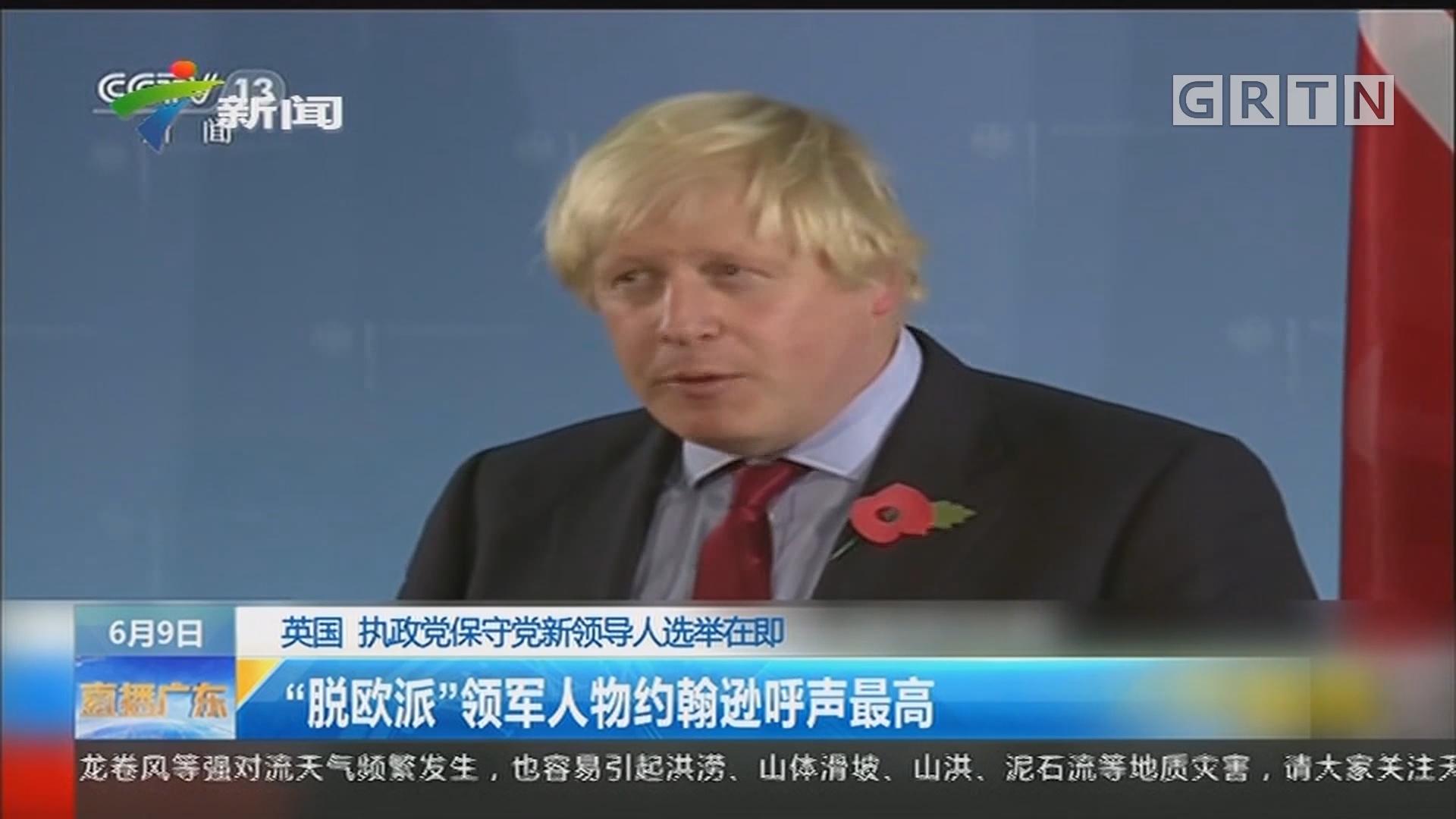 """英国 执政党保守党新领导人选举在即:""""脱欧派""""领军人物约翰逊呼声最高"""