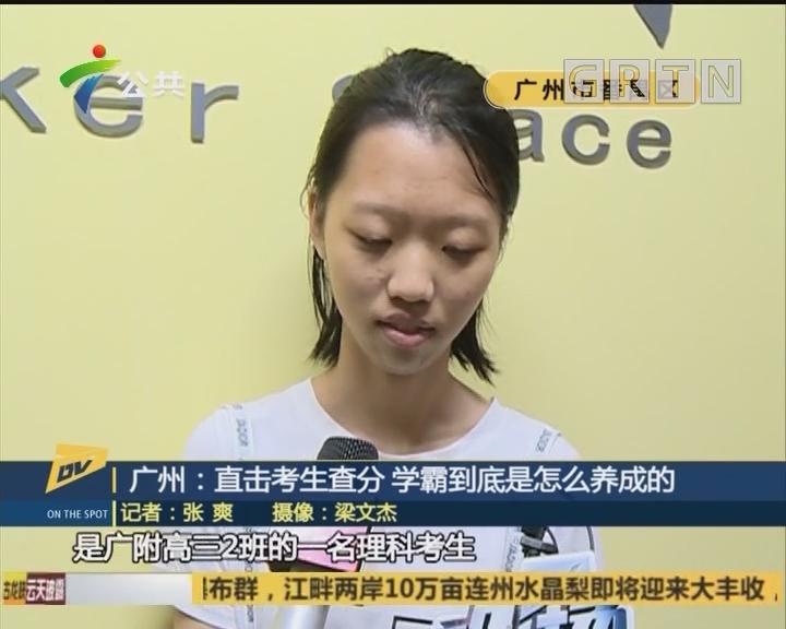 广州:直击考生查分 学霸到底是怎么养成的