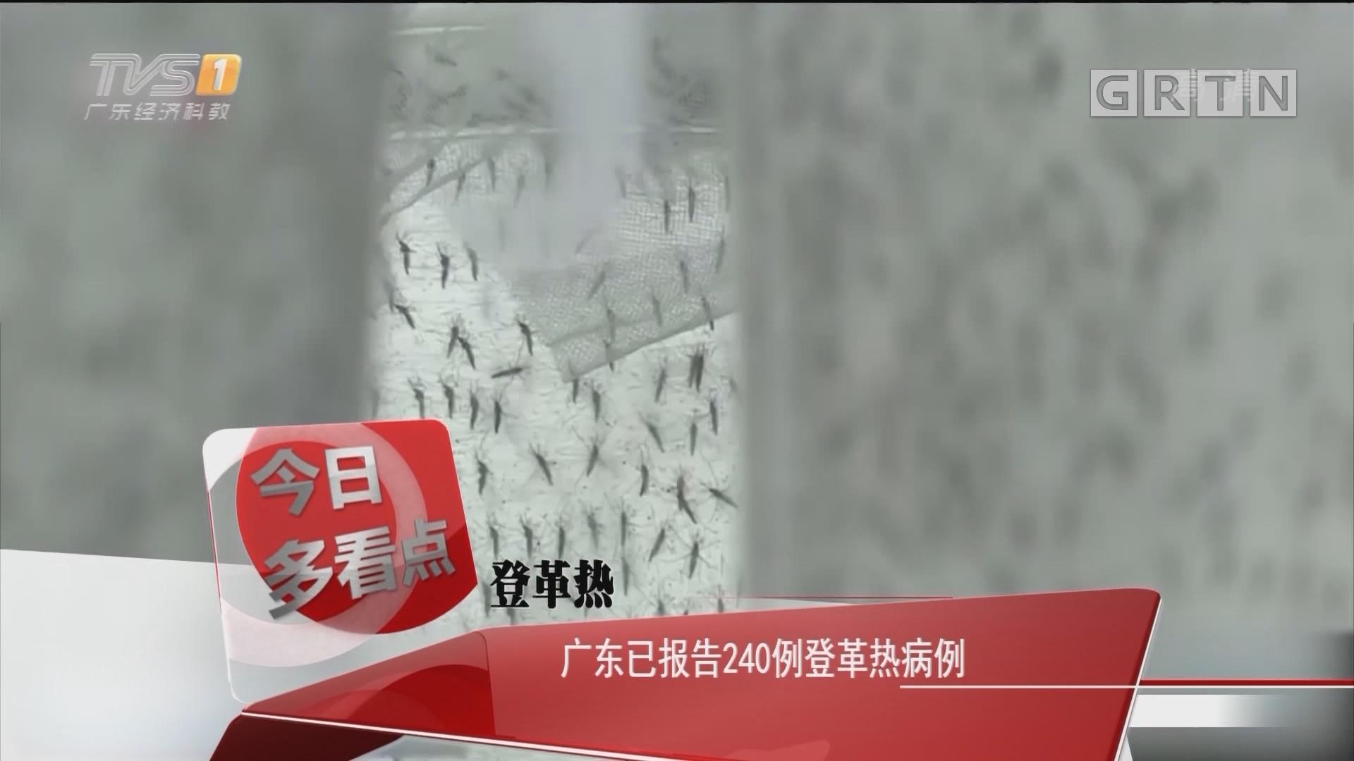 登革热:广东已报告240例登革热病例