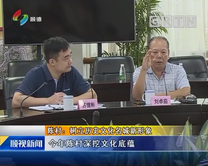 陈村:树立历史文化名城新形象