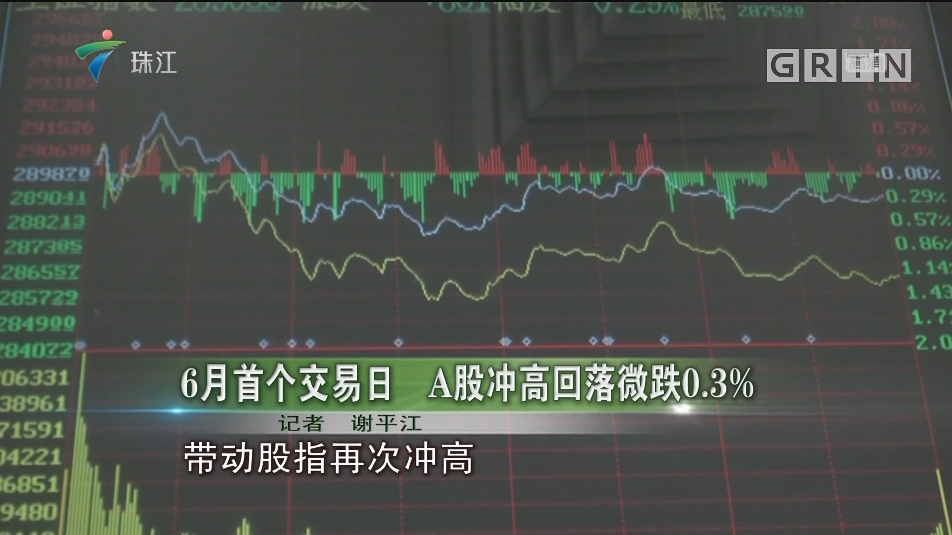 6月首个交易日 A股冲高回落微跌0.3%