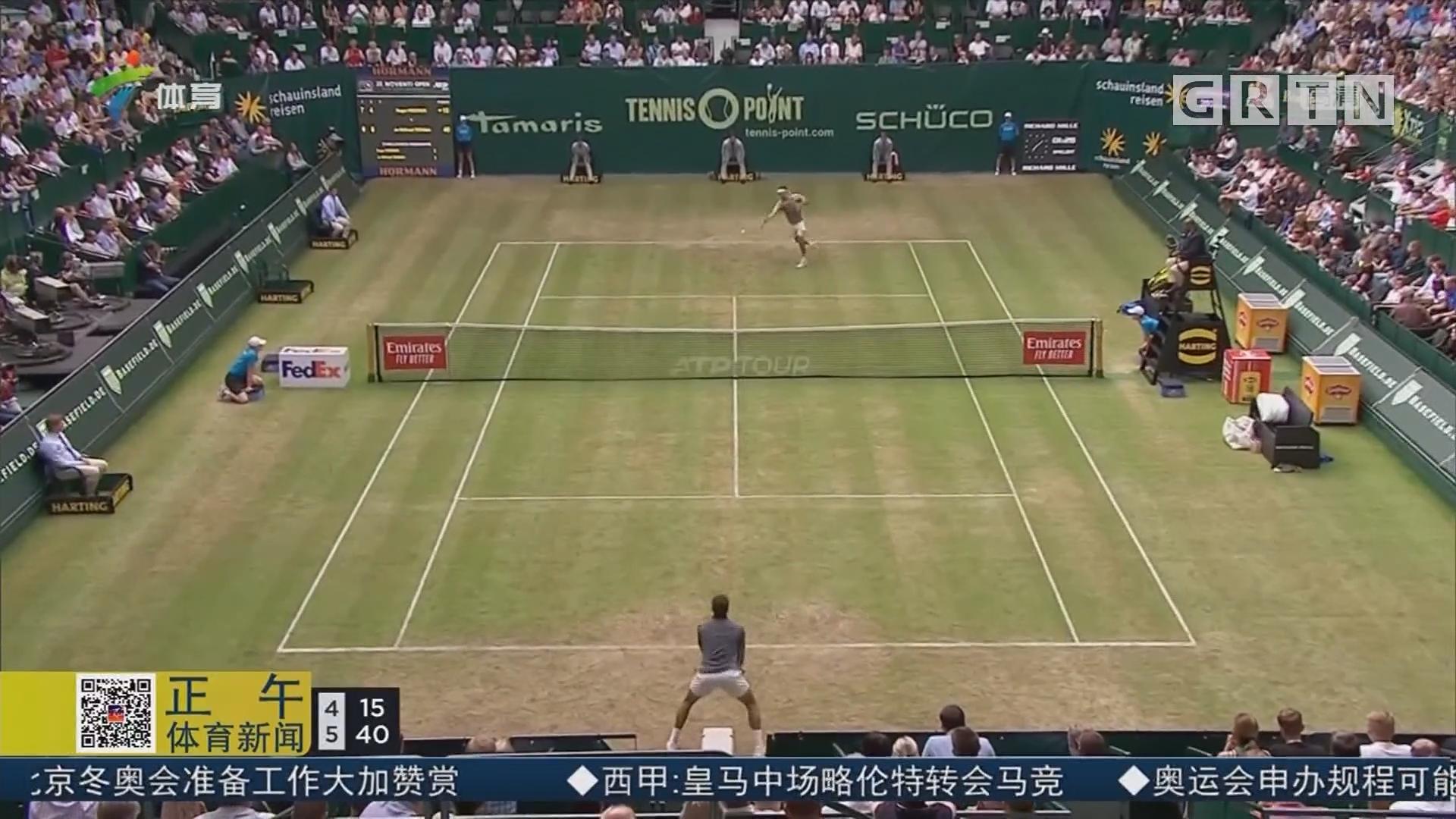 ATP500哈雷草地赛 费德勒携手小兹维列夫晋级