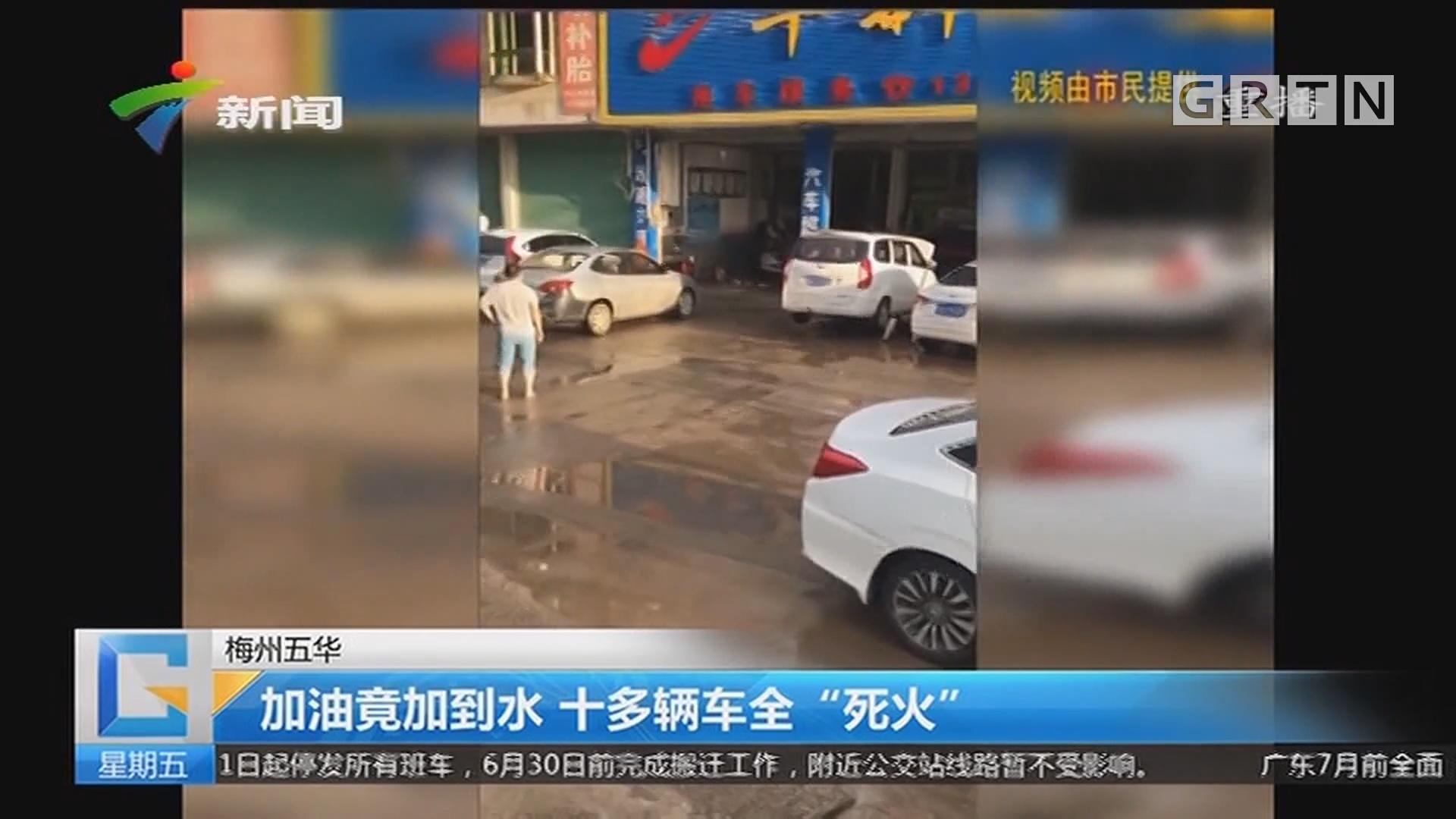 """梅州五华:加油竟加到水 十多辆车全""""死火"""""""