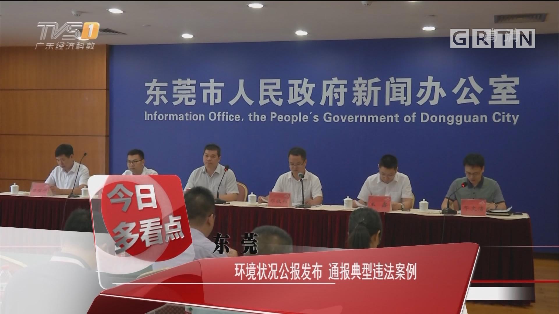 东莞:环境状况公报发布 通报典型违法案例