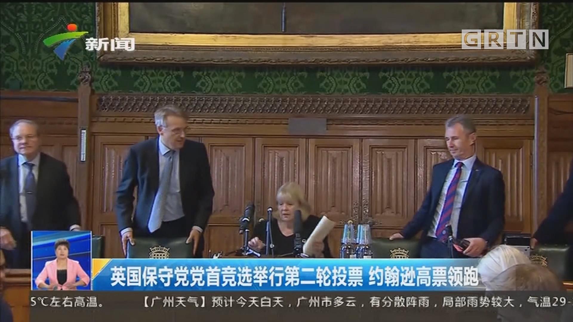 英国保守党党首竞选举行第二轮投票 约翰逊高票领跑