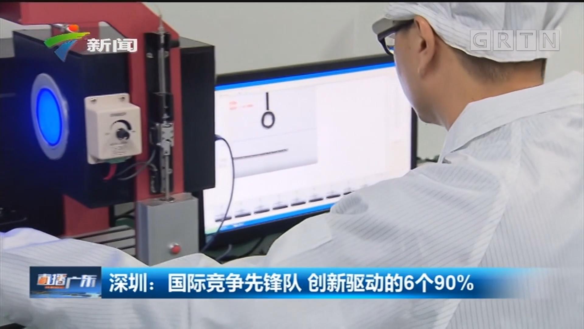 深圳:国际竞争先锋队 创新驱动的6个90%
