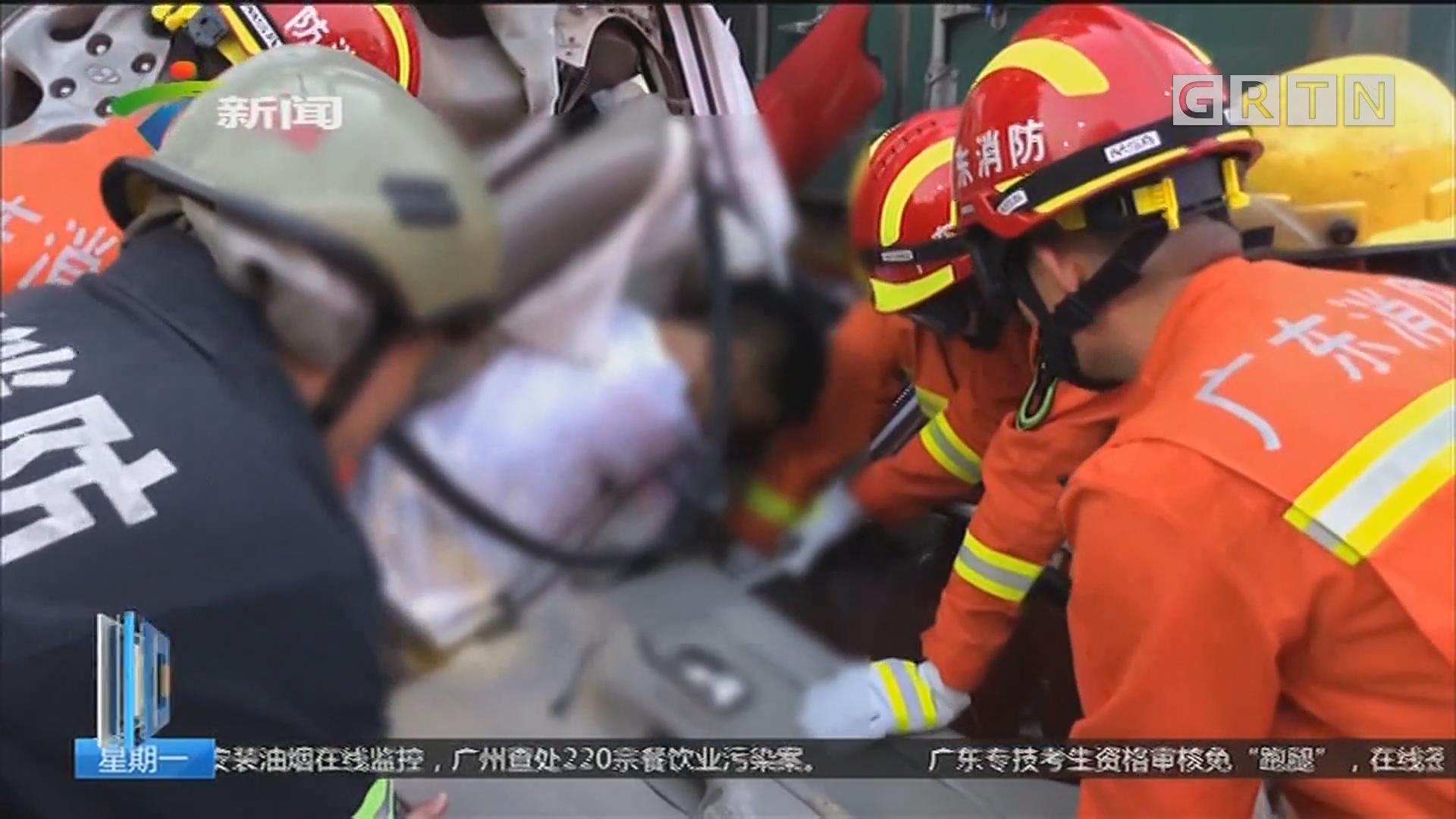 广州番禺:新光快速发生两起事故 一死四伤