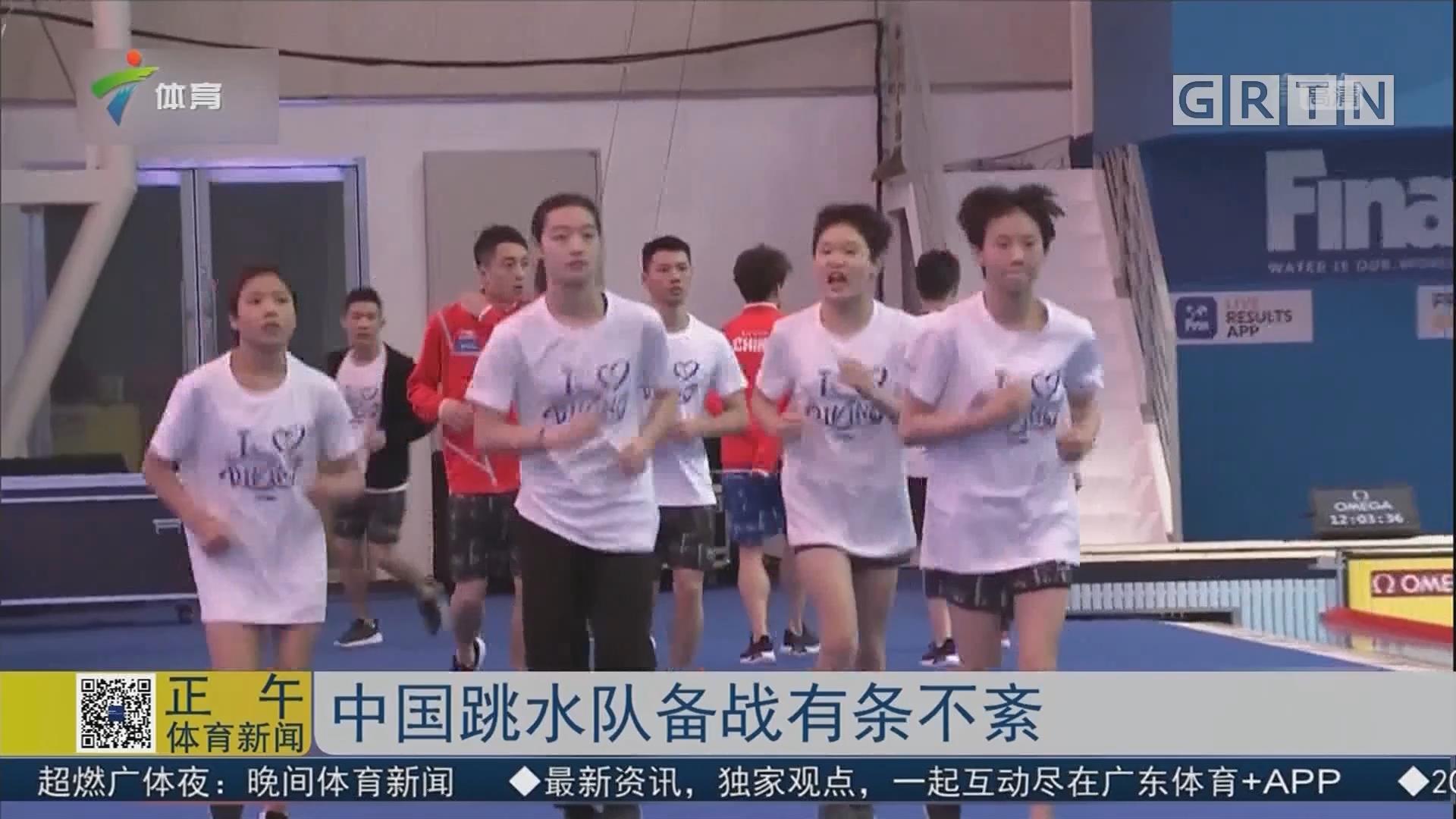 中国跳水队备战有条不紊