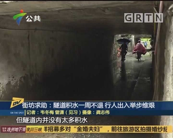 街坊求助:隧道积水一周不退 行人出入举步维艰