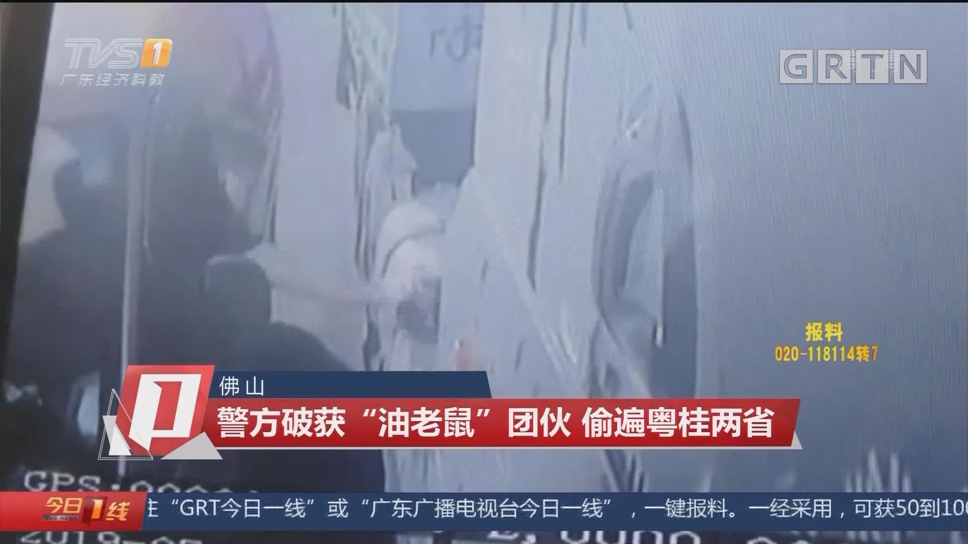 """佛山:警方破获""""油老鼠""""团伙 偷遍粤桂两省"""