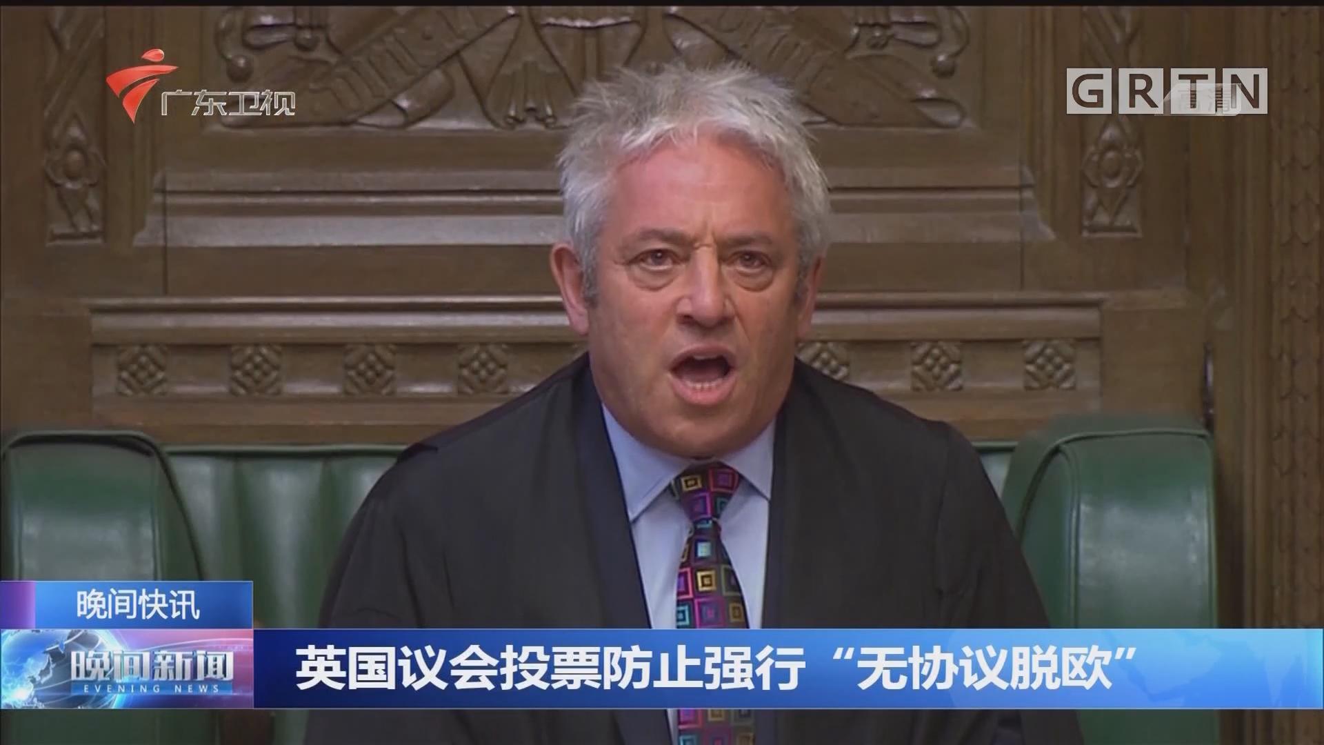 """英国议会投票防止强行""""无协议脱欧"""""""