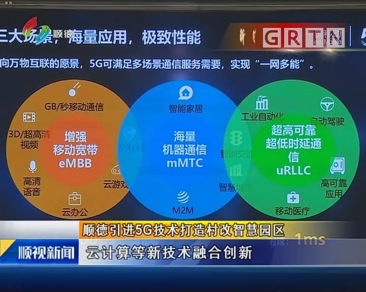 顺德引进5G技术打造村改智慧园区