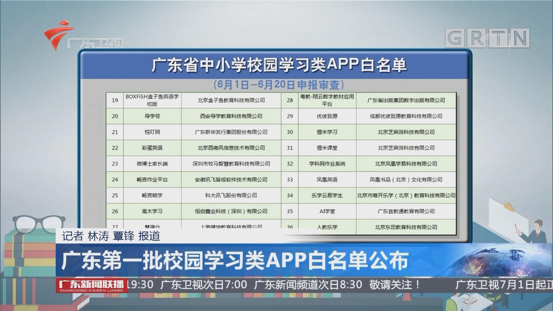 廣東第一批校園學習類APP白名單公布