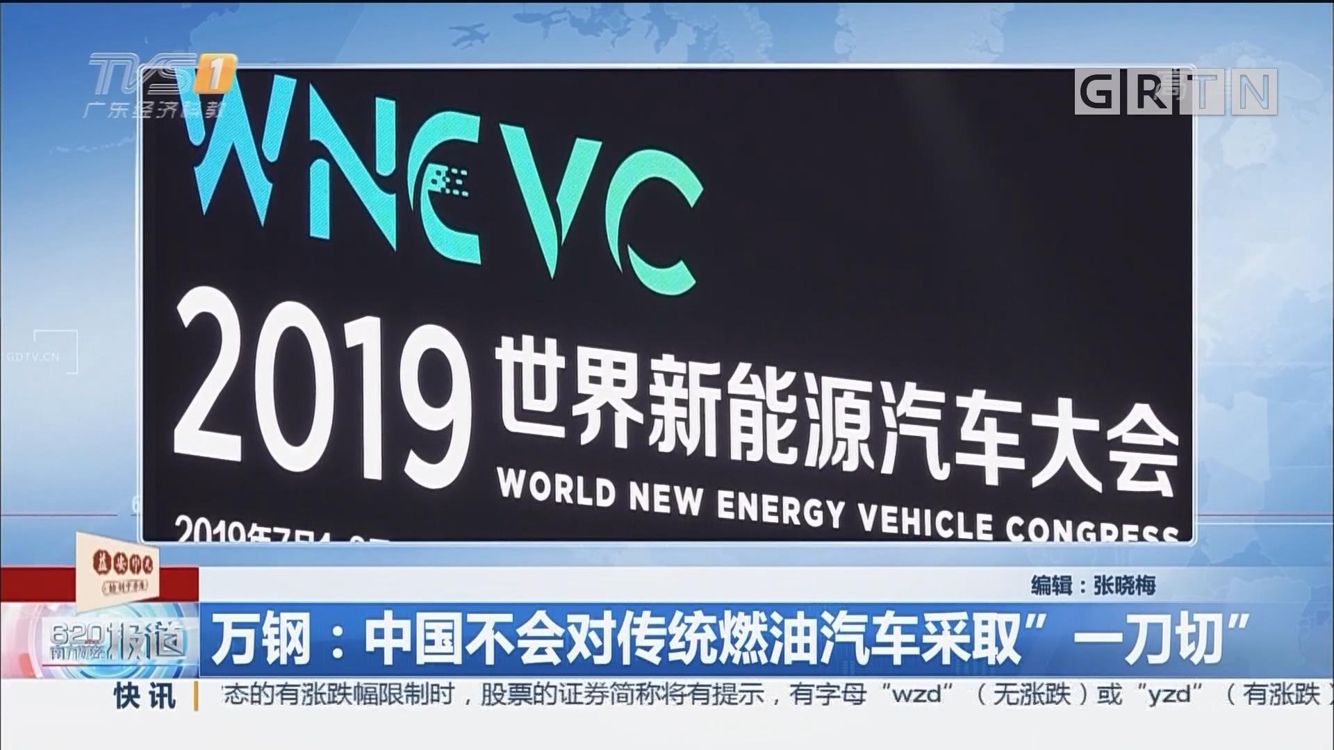 """万钢:中国不会对传统燃油汽车采取""""一刀切"""""""