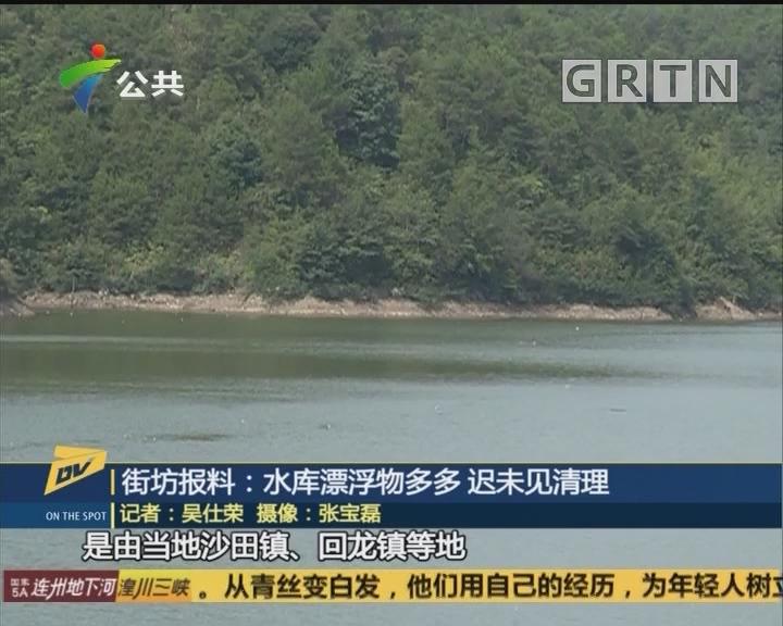 街坊报料:水库漂浮物多多 迟未见清理