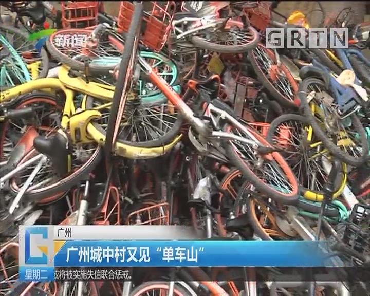 """广州:广州城中村又见""""单车山"""""""