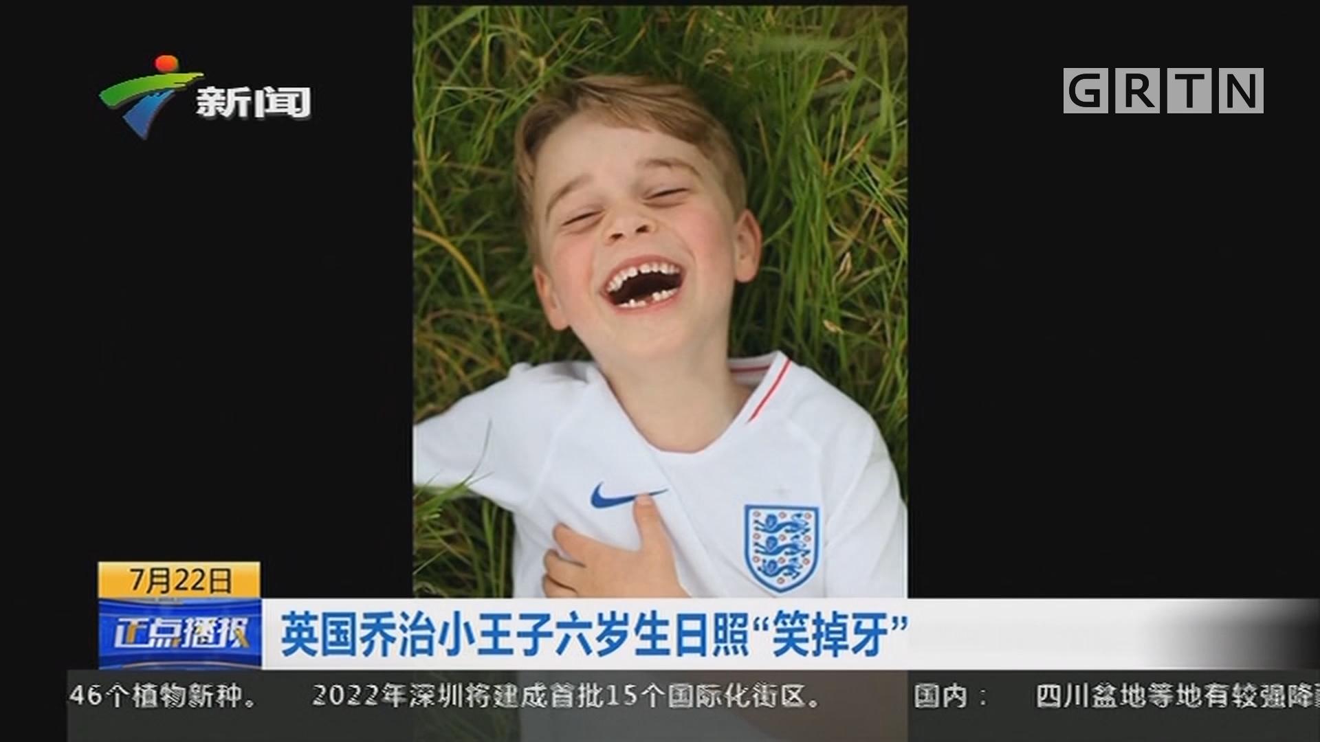 """英国乔治小王子六岁生日照""""笑掉牙"""""""